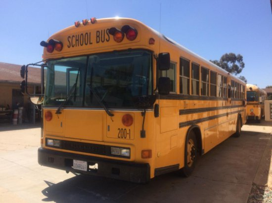 OFFSITE LOT - 2001 BLUE BIRD SCHOOL BUS