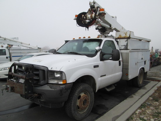 2002 FORD F550 BUCKET TRK