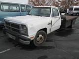 1991 DODGE 350 FLATBED