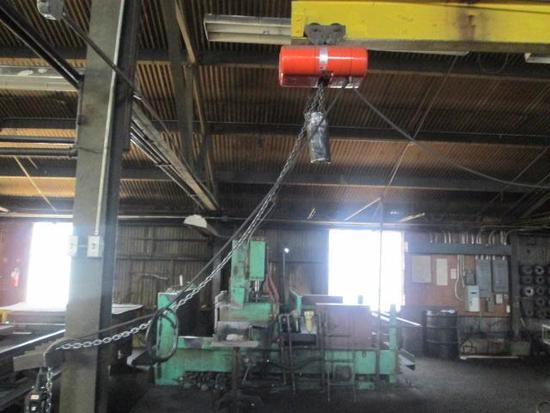 CM Loadstar 1-ton hoist with 15' Jib