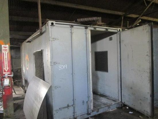 20' Container with Ingersol Rand 15T-T3020BP Air Compressor and Unk Air Compressor. Both Are