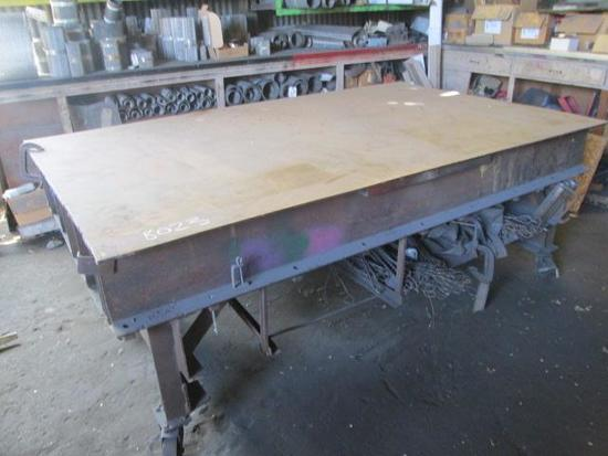 8'x 5' Metal Work Table