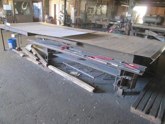 "6' x 16'4"" Metal Work table"