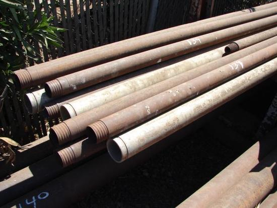 "620 Foot NQ Rods (6) - 20 Foot HQ Rod (1) and 3"" Aluminum Vitaulic Pipe (4)"