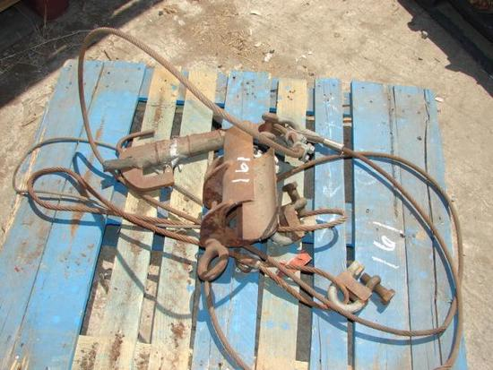 Schram Sling with Clam Shell and Casing Hoist