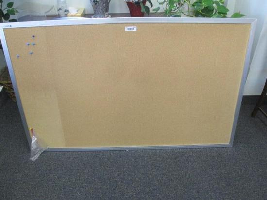 BULLETIN BOARD, (2) PLASTIC DISPLAY HOLDERS