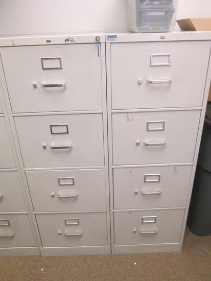 (2) HON 4-DRAWER METAL FILE CABINETS