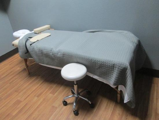 MASSAGE TABLE, CHAIR, TOWEL WARMER