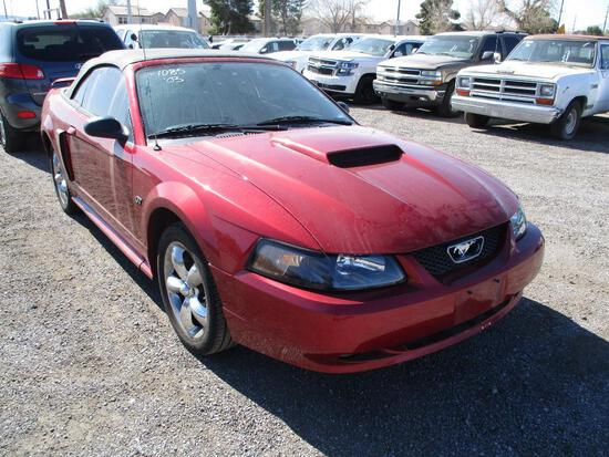 YEAR 2003 MAKE FORD MODEL MUSTANG GT VIN 1FAFP45X03F424207 DESCRIPTION CONVERTIBLE ODOMETER 36836