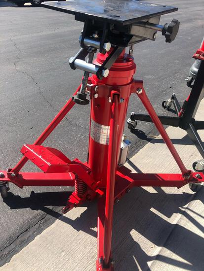 1-Ton Telescoping Transmission Jack and Foot Press