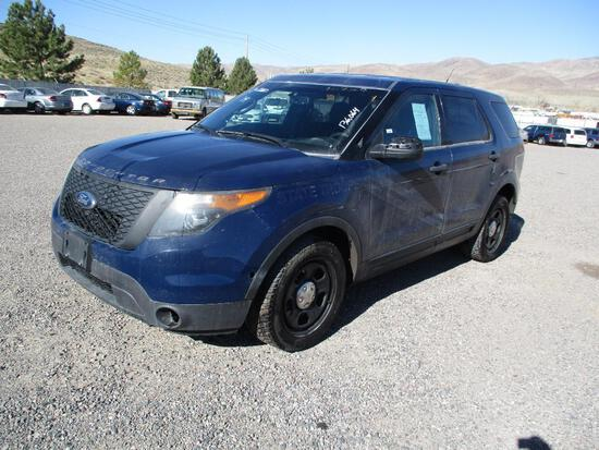 2014 MAKE FORD MODEL INTERCEPTOR SUV VIN 1FM5K8ATXEGB54703 DESCRIPTION NO CONSOLE ODOMETER 136064