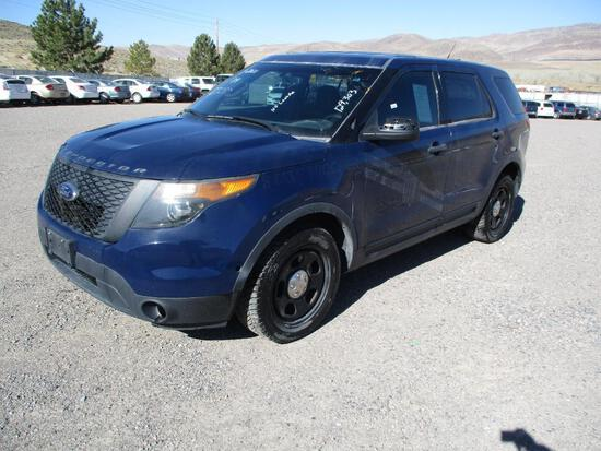 2014 MAKE FORD MODEL INTERCEPTOR SUV VIN 1FM5K8AT4EGB38559 DESCRIPTION NO CONSOLE ODOMETER 129303