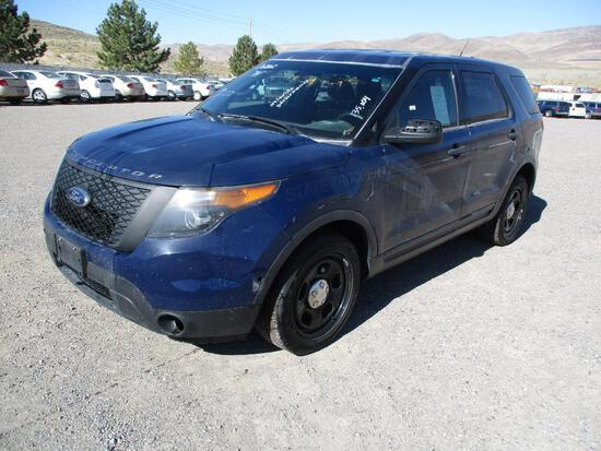 2014 MAKE FORD MODEL INTERCEPTOR SUV VIN 1FM5K8AT2EGB38575 DESCRIPTION NO CONSOLE BROKEN WINDSHIELD