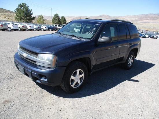 2008 MAKE CHEV MODEL TRAILBLAZER LS VIN 1GNDT13S682160564 DESCRIPTION 4X4 ODOMETER 120481 ODOMETER