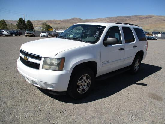 2007 MAKE CHEV MODEL TAHOE VIN 1GNFK130X7J337471 DESCRIPTION 4X4 ODOMETER 143837 ODOMETER STATEMENT