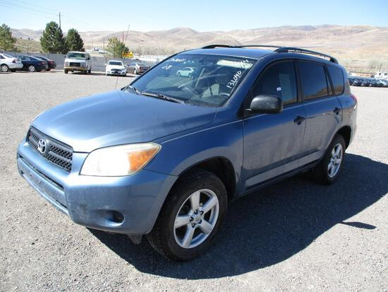 2008 MAKE TOYOTA MODEL RAV 4 VIN JTMBD33V08S199698 DESCRIPTION 4X4 ODOMETER 131040 ODOMETER