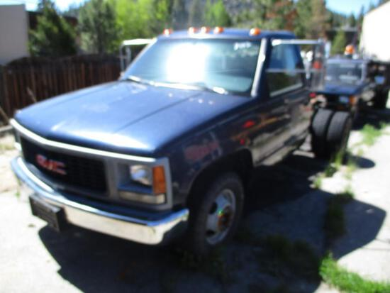1995 MAKE GMC MODEL 3500 CAB & CHASSIS VIN 1GDHC34K2SE509239 DESCRIPTION 9166 HRS TAXABLE AT THE