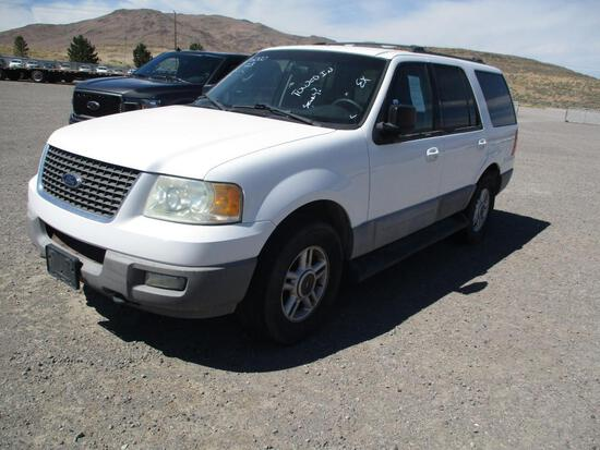 2003 MAKE FORD MODEL EXPEDITION VIN 1FMPU16L83LB27698 DESCRIPTION 4X4 3RD SEAT WILL NOT START THEFT?