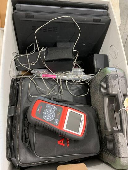 BOX W/POLICE EVIDENCE