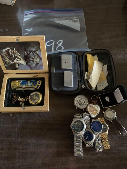 WATCHES, LIGHTER AND RINGS