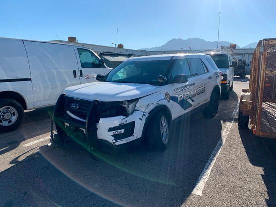 2017 Ford Police Interceptor Multipurpose Vehicle (MPV), VIN # 1FM5K8AR8HGA44595