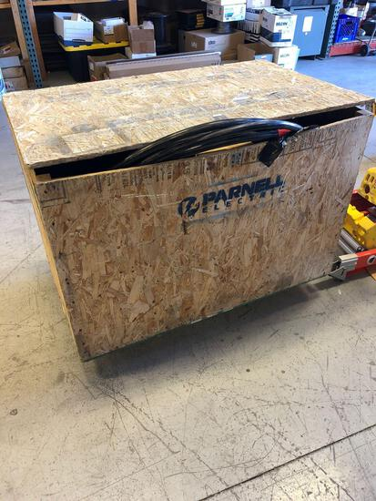 Crate of Large Scrap Cable