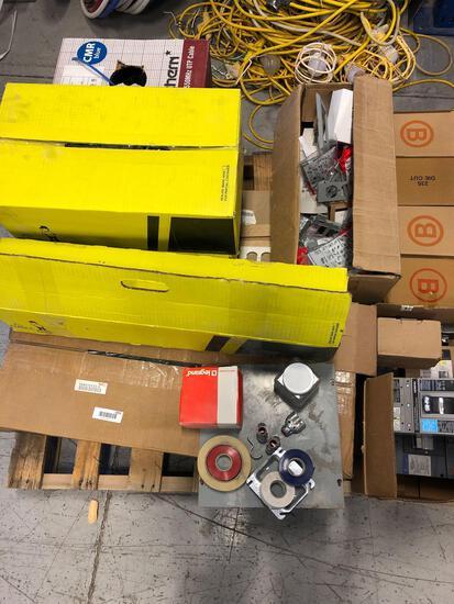 (2) Pallets New Elec Parts
