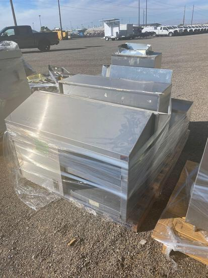 STAINLESS STEEL COUNTER AND KITCHEN EQUIPMENT