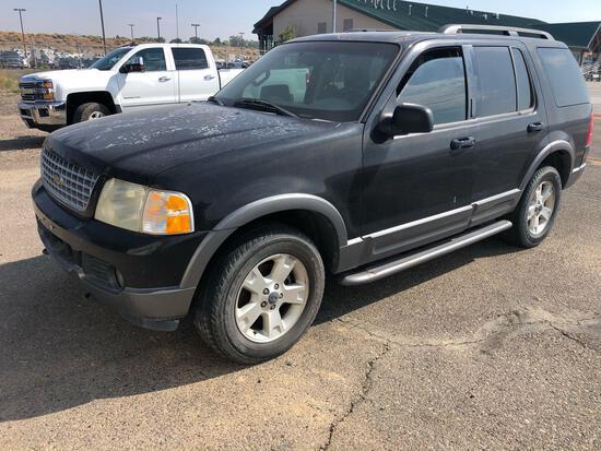 2003 Ford Explorer Multipurpose Vehicle (MPV), VIN # 1FMZU73K33ZB14040