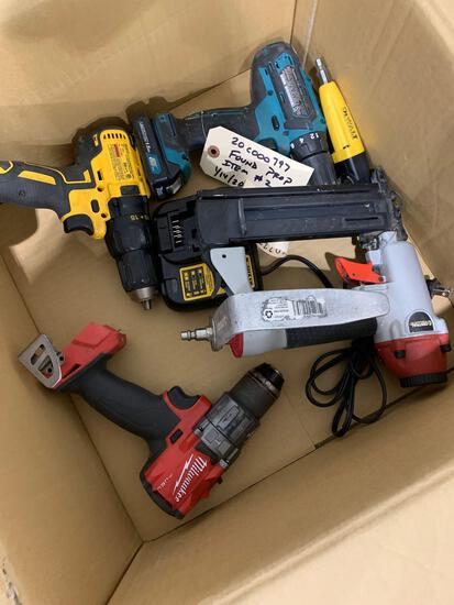BOX W/ POWER TOOLS