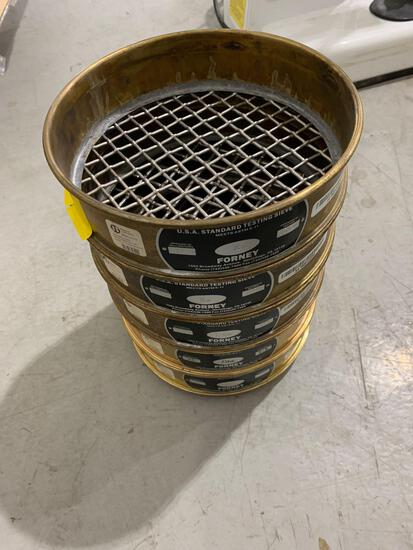 5 FORNEY 8 INCH SIEVES