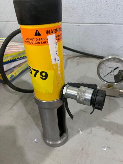 ENERPAC RCH123 HYDRAULIC RAM AND PUMP