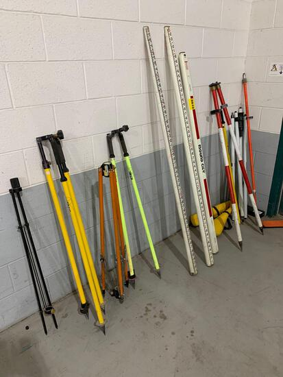 SURVEY POLES AND MISC ITEMS