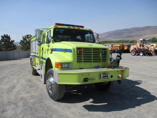 1994 INTL 4800 4X4 FIRE TRUCK
