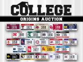 My Plates College Origins Auction 2017