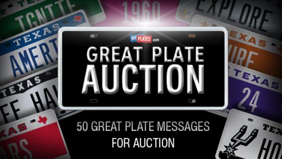 My Plates GR8PL8 Auction 2020
