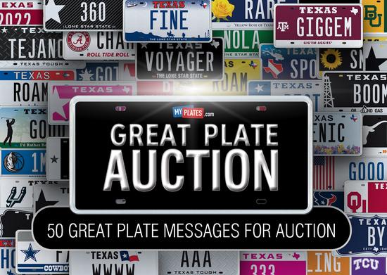 My Plates GR8PL8 Auction