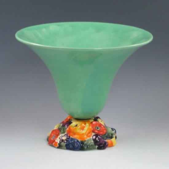 Fulper Vase W Floral Base Auctions Online Proxibid