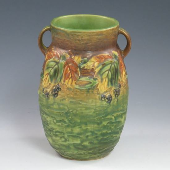 Roseville Blackberry Vase - Mint w/ Label