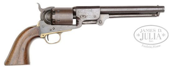 FINE LEECH & RIGDON CONFEDERATE REVOLVER CAPTURED BY UNION NAVAL OFFICER.