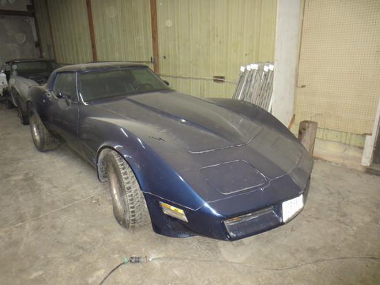 1981 Blue Corvette
