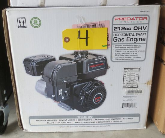 212 cc Horizontal Shaft Gas Engine
