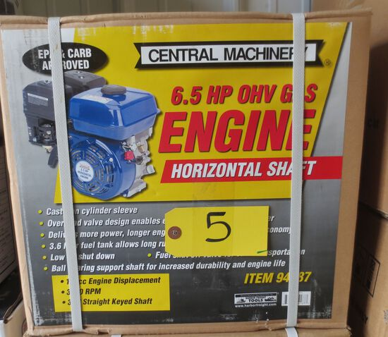 6.5 hp Horizontal Shaft Gas Engine
