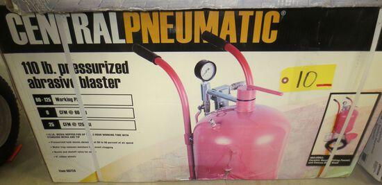 110 lb. Pressurize Abrasive Blaster