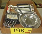 Manganic Tool Tray, Combo Wrenches, Obstruction Wrenches