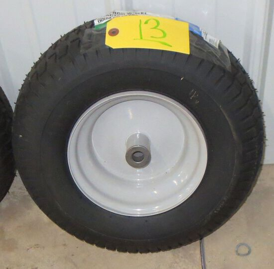 1 Tire and rim 16 inch front tractor tire 16 x 6.5