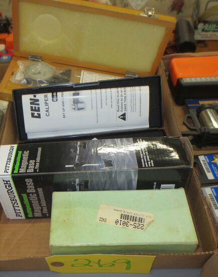 Depth Gage, Digital Caliper, Magnetic base, Fly cutter holder