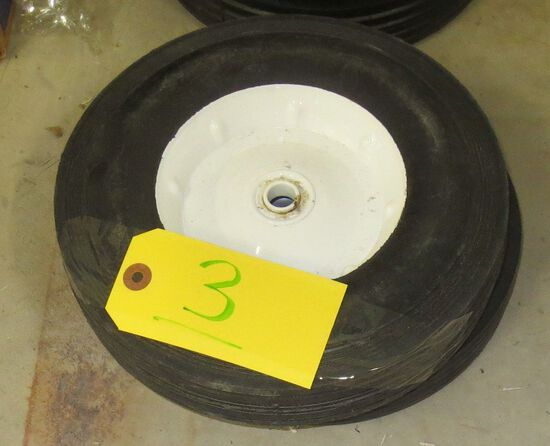 Pair solid wheels 10 x 2.75 and 10  1.75