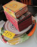 Misc. Serving Trays and Cigar box