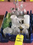 Misc. Glasses, Gas Lamp, Castor Set